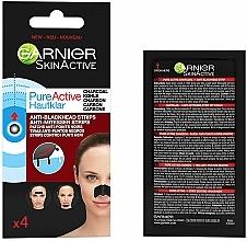 Parfémy, Parfumerie, kosmetika Pásky proti černým tečkám - Garnier Skin Active Pure Active Anti-Blackhead Charcoal Strips