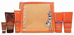Parfémy, Parfumerie, kosmetika Sada - Lancaster Sun Care Gift Set (b/cr/50ml+after/sun/cr/50ml+bronzer/3ml+b/scr/50ml+cr/30ml+bag)