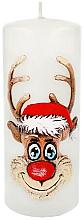 Parfémy, Parfumerie, kosmetika Dekorativní svíčka Rudolf, bílá, 7x18 cm - Artman Christmas Candle Rudolf
