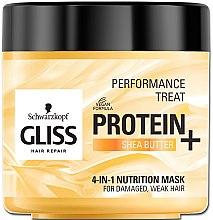 "Parfémy, Parfumerie, kosmetika Maska 4 v 1 ""Výživa"" pro poškozené, slabé vlasy - Schwarzkopf Gliss Kur Performance Treat"