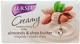 Parfémy, Parfumerie, kosmetika Krém mýdlo s mandlí a bambuckým máslem - Luksja Creamy Almond Shea Butt Soap