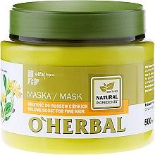 Parfémy, Parfumerie, kosmetika Maska pro objem tenkých vlasů s extraktem z arniky - O'Herbal