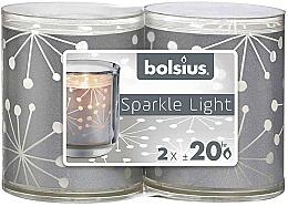 Parfémy, Parfumerie, kosmetika Svícny se svíčkami - Bolsius Sparkle Lights Crystal Silver Candle
