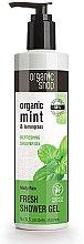 """Parfémy, Parfumerie, kosmetika Osvěžující sprchový gel """"Mátový déšť"""" - Organic Shop Organic Mint and Lemongrass Fresh Shower Gel"""
