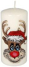 Parfémy, Parfumerie, kosmetika Dekorativní svíčka Rudolf, bílá - Artman Christmas Candle Rudolf White