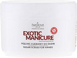 Parfémy, Parfumerie, kosmetika Cukrový peeling na ruce - Farmona Professional Egzotic Manicure Scrub