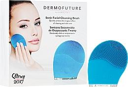 Parfémy, Parfumerie, kosmetika Sonický kartáček pro čištění obličeje, modrý - DermoFuture Sonic Facial Cleansing Brush