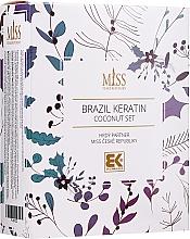 Parfémy, Parfumerie, kosmetika Sada - Brazil Keratin Coconut Set (sch/300ml + cond/300ml + oil/100ml)