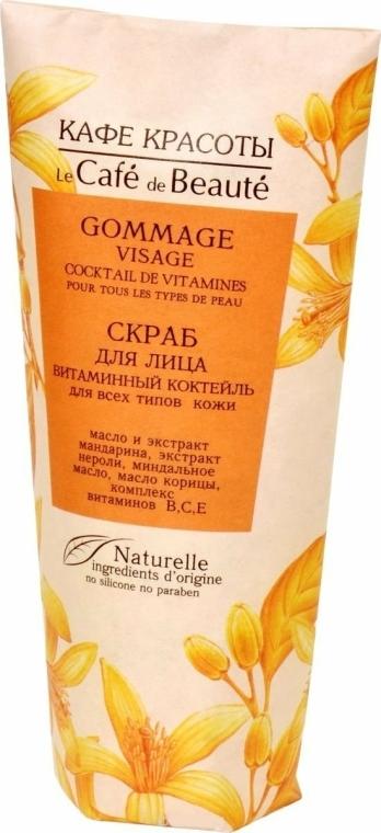 "Peeling na obličej ""Vitaminový koktejl"" - Le Cafe de Beaute Scrab"