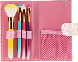 Parfémy, Parfumerie, kosmetika Sada barevných štětečků na make-up, v pouzdře, 4 ks - Avon
