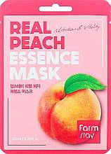 Parfémy, Parfumerie, kosmetika Plátýnková pleťová maska s broskvovým extraktem - FarmStay Real Peach Essence Mask