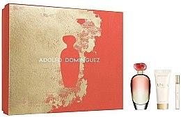 Parfémy, Parfumerie, kosmetika Adolfo Dominguez Unica Coral - Sada (edt/100/ml+edt/10/ml+b/lotion/75/ml)