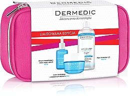 Parfémy, Parfumerie, kosmetika Sada - Dermedic Hydrain 3(ser/30/ml+cr/50/ml+mic/water/500/ml+bag)