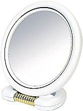 Parfémy, Parfumerie, kosmetika Oboustranné zrcadlo kulaté, na podstavci, bílé, 18,5 sm - Donegal Mirror