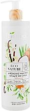 Parfémy, Parfumerie, kosmetika Krémové sprchové mléko - Bielenda Eco Nature Creamy Body Wash Milk Vanilla Coconut Milk Orange Blossom