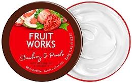 Parfémy, Parfumerie, kosmetika Máslo na tělo Jahoda a pomelo - Grace Cole Fruit Works Body Butter Strawberry & Pomelo