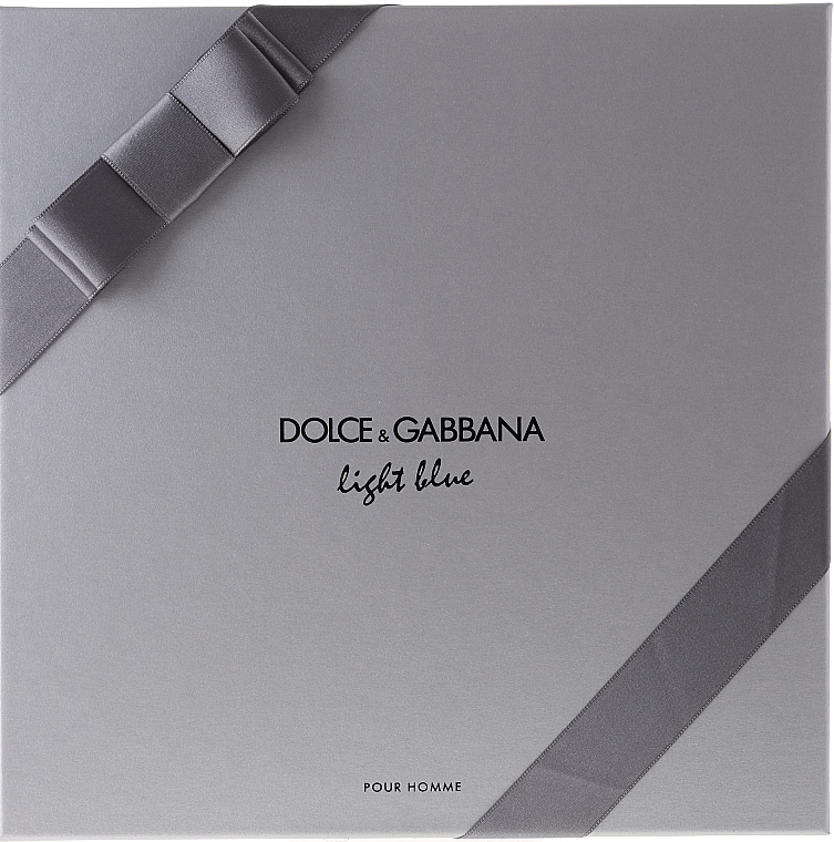 Dolce & Gabbana Light Blue pour Homme - Sada (edt 125 + sh/g 50 + a/sh balm 75) — foto N2
