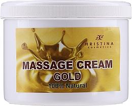 Parfémy, Parfumerie, kosmetika Masážní krém na obličej a tělo Zlato - Hristina Cosmetics Gold Massage Cream
