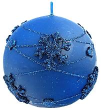 Parfémy, Parfumerie, kosmetika Dekorativní svíčka, koule, modrá, 12 cm - Artman Snowflake Application