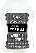 Parfémy, Parfumerie, kosmetika Voňavý vosk - WoodWick Wax Melt Amber and Incense