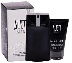 Parfémy, Parfumerie, kosmetika Mugler Alien Man - Sada (edt/100ml+sh/gel/50ml)