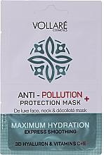 Parfémy, Parfumerie, kosmetika Pleťová maska Kyselina hyaluronová + vitamíny C a E - Vollare Anti-Pollution Protection Mask