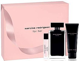 Parfémy, Parfumerie, kosmetika Narciso Rodriguez For Her - Sada (edt/100ml + edt/10ml + b/lot/75ml)
