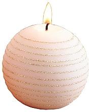 Parfémy, Parfumerie, kosmetika Dekorativní svíčka, růžově zlatá, koule, 10 cm - Artman Andalo