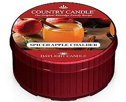 Parfémy, Parfumerie, kosmetika Čajová svíčka - Country Candle Spiced Apple Chai-der Daylight