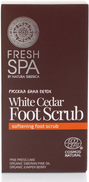 Peeling na nohy - Natura Siberica Fresh Spa Russkaja Bania Detox White Cedar Foot Scrub — foto N1