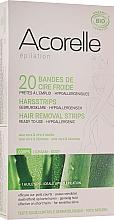 Parfémy, Parfumerie, kosmetika Voskové pásky na depilaci těla Aloe a včelí mléko - Acorelle Hair Removal Strips