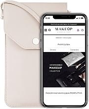 Parfémy, Parfumerie, kosmetika Taštička na mobil s popruhem, béžová Cross - Makeup Phone Case Crossbody Beige
