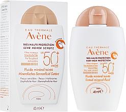 Parfémy, Parfumerie, kosmetika Opalovací minerální fluid s tonizujícím efektem - Avene Eau Thermale Tinted Mineral Fluid SPF 50+