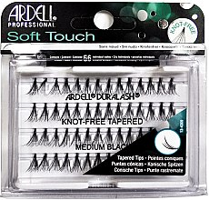 Parfémy, Parfumerie, kosmetika Umělé řasy v trsech - Ardell Soft Touch Duralash Medium Black Tapered Tips