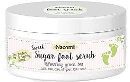 Parfémy, Parfumerie, kosmetika Cukrový peeling na nohy se zeleným čajem - Nacomi Sugar Foot Peeling