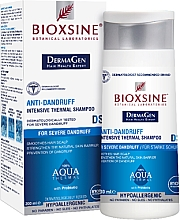Parfémy, Parfumerie, kosmetika Intenzivní termální šampon na vlasy - Biota Bioxsine Anti-Dandruff Intensive Thermal Shampoo DermaGen Aqua Thermal