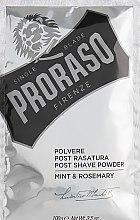 Parfémy, Parfumerie, kosmetika Pudr po holení s mátou a rozmarýnem - Proraso Mint & Rosemary Post Shave Powder
