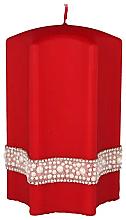 Parfémy, Parfumerie, kosmetika Dekorativní svíčka Hvězda, červená, 9x18cm - Artman Crystal Opal Pearl