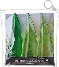 Parfémy, Parfumerie, kosmetika Sada - Holika Holika Aloe Face And Body Care Set (foam/55ml + gel/55ml + sh/gel/55ml)