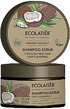 Parfémy, Parfumerie, kosmetika Vlasový peeling Hluboké čištění - Ecolatier Organic Coconut Shampoo-Scrub
