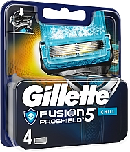 Parfémy, Parfumerie, kosmetika Náhradní kazety na holení - Gillette Fusion Proshield Chill