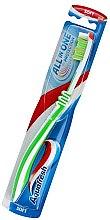 Parfémy, Parfumerie, kosmetika Měkký zubní kartáček měkký, světle zelený s bílou - Aquafresh All In One Protection
