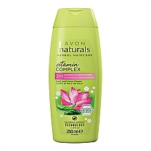 Parfémy, Parfumerie, kosmetika Šampon a kondicionér 2v1 Květ lotosu a bazalka - Avon Naturals Hair Care Shampoo