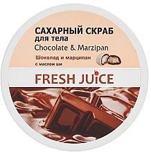 Parfémy, Parfumerie, kosmetika Cukrový tělový peeling - Fresh Juice Chocolate and Marzipan