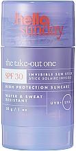 Parfémy, Parfumerie, kosmetika Opalovací tyčinka na pokožku těla a obličeje - Hello Sunday The Take-Out One Invisible Sun Stick SPF 30