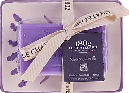Parfémy, Parfumerie, kosmetika Přírodní mýdlo s keramickou mýdlenkou - Le Chatelard Lavande Soap