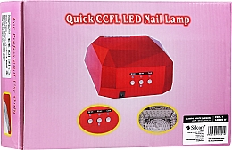 Parfémy, Parfumerie, kosmetika Lampa na manikúru - Silcare Diamond LED CCFL UV 36W Lamp White