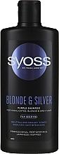 Parfémy, Parfumerie, kosmetika Šampon na blond vlasy - Syoss Blond & Silver Purple Shampoo For Highlighted, Blonde & Grey Hair