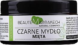"""Parfémy, Parfumerie, kosmetika Přírodní černé mýdlo """"Máta"""" - Beaute Marrakech Savon Noir Moroccan Black Soap Mint"""