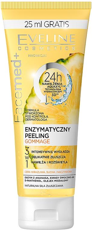 Enzymový peeling s ananasem a ovocnými kyselinami - Eveline Cosmetics Facemed+ Enzymatycny Peeling Gommage